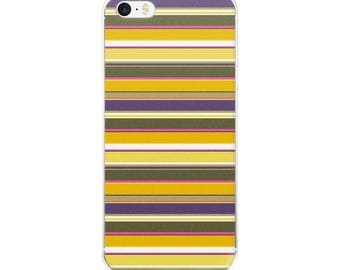 iPhone Case with striped pattern, motif: sunflower