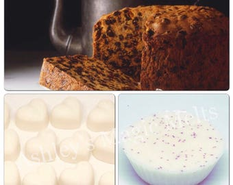 3 Fruit cake wax melts, cake wax melts, food wax melts, sweet scented wax melts, strong wax melts, cheap wax melts, wax melt tarts