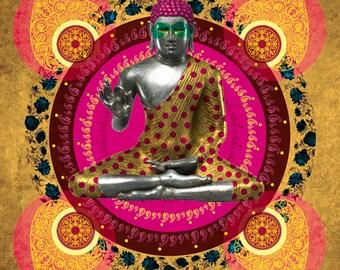 Buddha, Digital art, Digital Art, icon, print, Illustration, frame for frame, decorative frame, gift