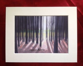 Into the woods (Print taken from my original pastel artwork)