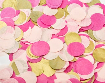 Confetti Wedding, table confetti made of silk paper [pink, pink, gold, white]
