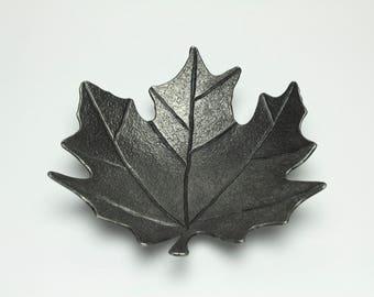 Maple Leaf Dish, forged, handmade