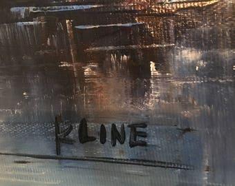 KLINE oil on masonite
