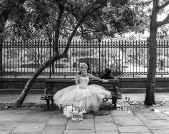 Southern, Dead, and Lovely - Jackson Square - New Orleans 2016 - Fine Art Photograph - Street Photo - Black and White - Fine Art Print
