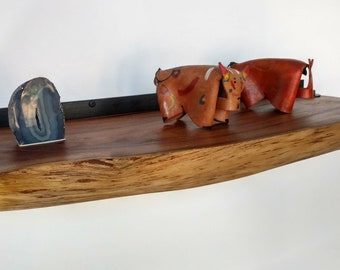 Large - Premium Mesquite Live Edge Floating Shelf | That Shelf