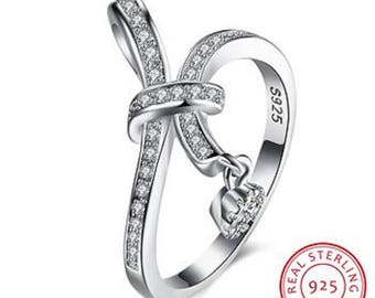 Ring Silver 925 and crystal rhinestones