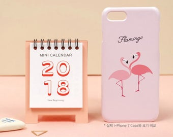 2018 MINI CALENDAR / desk calender / lovely calender /  Scheduler / Ring Binding Calendar