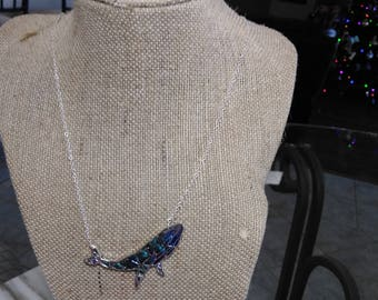 Beautiful  Mosaic Whale Necklace