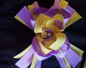 Belle stacked hair bow