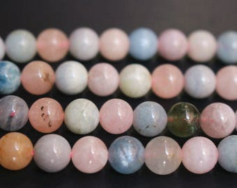 15 inches Full strand, AA Natural Green Beryl beads,Morganite Stone round beads 6mm 8mm 10mm 12mm,loose beads,semi-precious stone