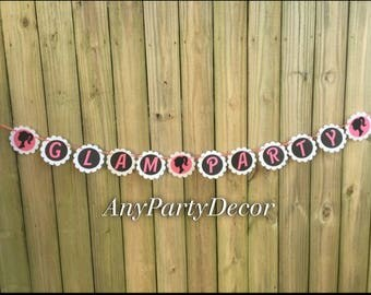Glam Party Banner - Girly Glam Party