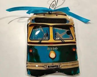 Fishtown Trolley Jawnament Ornament