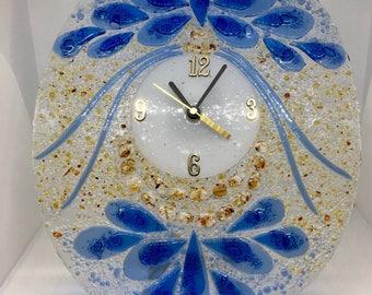 Blue Petals Clock