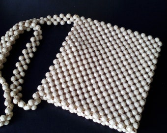 Vintage beaded clutch bag