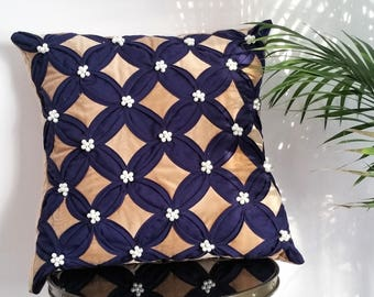 Beautifully handcrafted Central Asian decorative pillow
