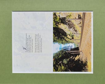 Unique Original Artwork by Bart Price, Photo Poem of Train Tracks, Artist Signed and Numbered, Matted, Photography, Poetry, Wall Art Print