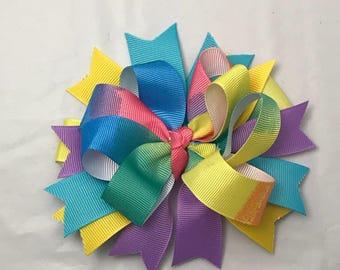 Pastel Tye-Dye HairBow