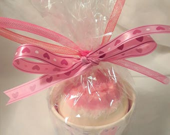 Rose of My Heart 10oz Bath Bomb HUGE!! with bath melt - On Sale!