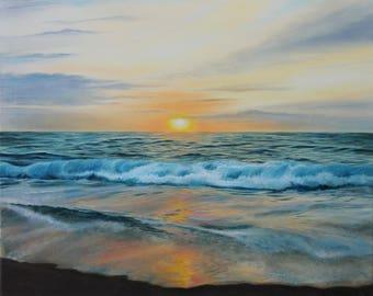 Sunrise Serenity, oil painting