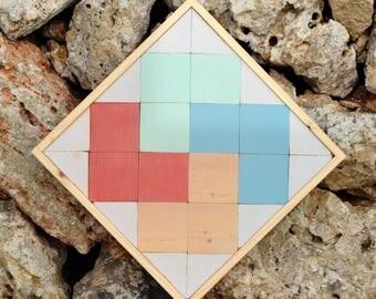 MoD. Morell-wood geometric table-by Menorca Maker/Wall Art