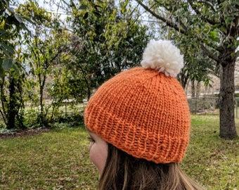 Orange Snowpocalypse Knit Hat