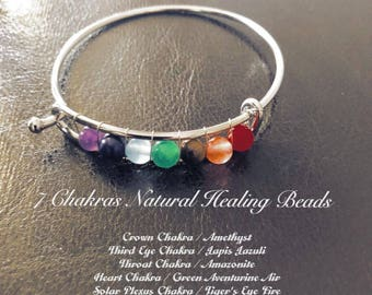 7 Chakras Natural Healing Beads Reiki Bracelet