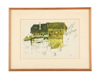 "Egon Schiele's ""Old Houses in Krumau"""