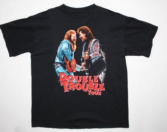 Travis Tritt & Marty Stuart 1996 Double Trouble Concert Tour T-Shirt