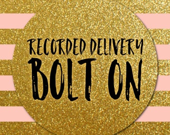UK Recorded Delivery BOLT ON