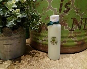 Bath gel handmade 100% natural of Aloe Vera, olive oil and lemon.
