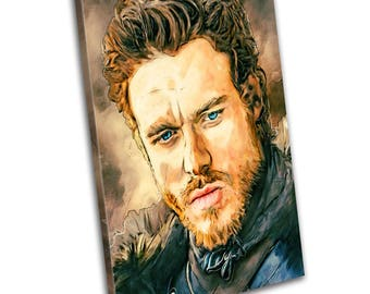 Robb Stark Game Of Thrones Tv Art Canvas Print - Abstract Art - Wall Art - Framed Print - Ready To Hang
