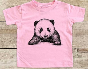 Panda Bear in your face cute Zoo animal wild kingdom Shirt - Baby bodysuit Toddler youth Shirt cute birthday baby shower gift
