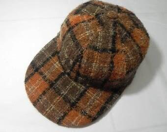 Vintage Aquascutum Of London Wool Fur Tartan Club Check Snapback Cap Hats Trucker
