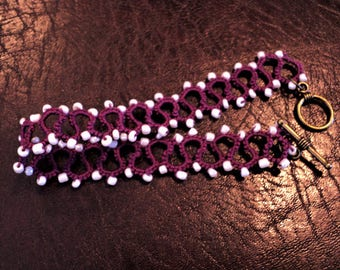 Beaded and Tatted Bracelet