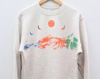 NIKE Sportswear Brown Vintage Sweater Sweatshirt Size L