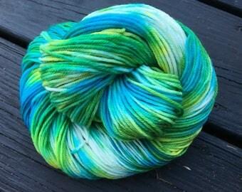 Aquarius  - Super-Wash Merino & Nylon Hand-dyed DK Weight Yarn