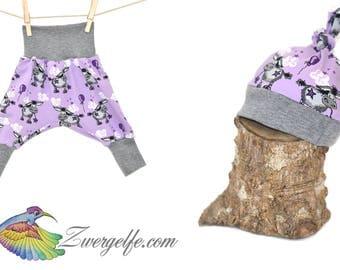 Baby Set bloomers Beanie Donkey (Biojersey) Purple
