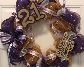 Beautiful wreath 21st birthday,gift