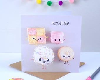 Cute Cakes Birthday Card