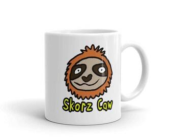 Slothy Skorz Caw coffee mug