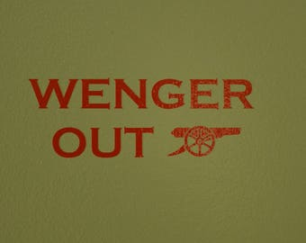 Wenger Out Vinyl Decal