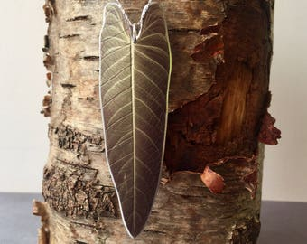 Philodendron Leaf Necklace