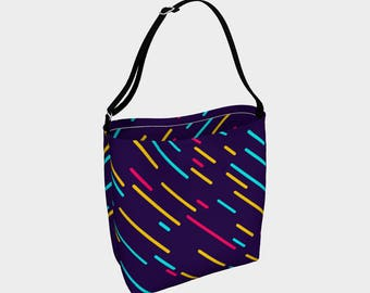 Neon lights in the City tote bag