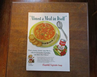 1953 Original Vintage Campbell's Soup ad