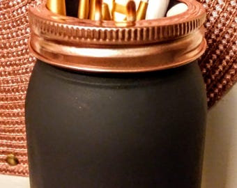 Makeup Brush Mason Jar