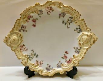 Limoges France Depose Floral Elegant Serving Dish