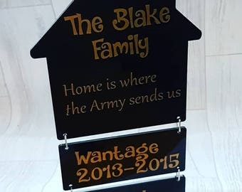 Home is where the Army send us plaque