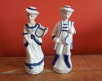 Blue and white porcelain figurine
