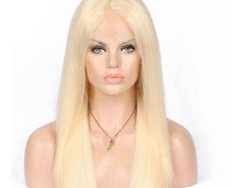Lace front, women's wig, blonde, swiss lace, human hair
