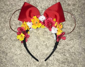 Disney Floral Ears - Minnie Mouse